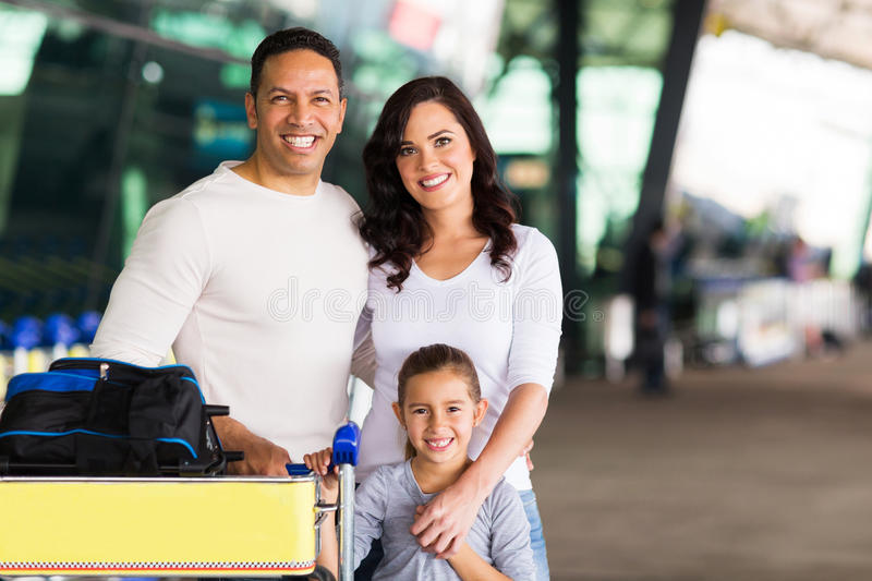 Travelling family portrait royalty free stock photography