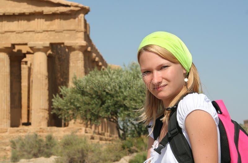 Travelling girl stock photos