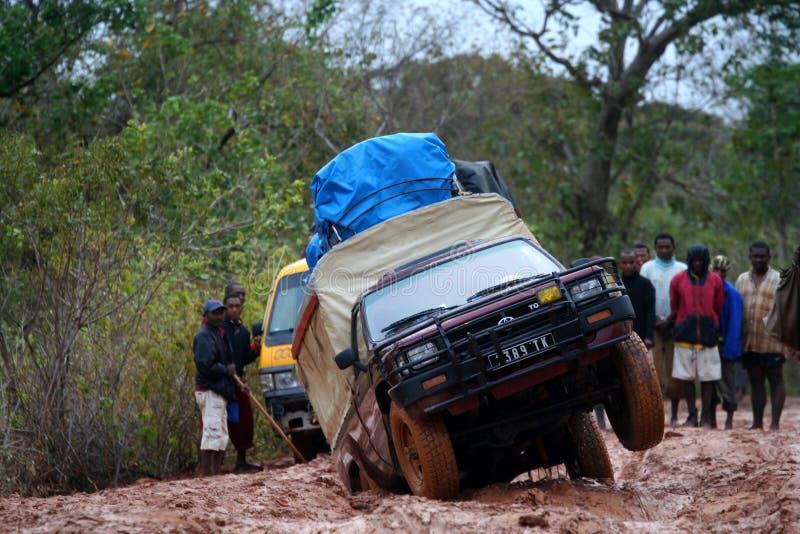 Travelling On Impassable Road Editorial Photo
