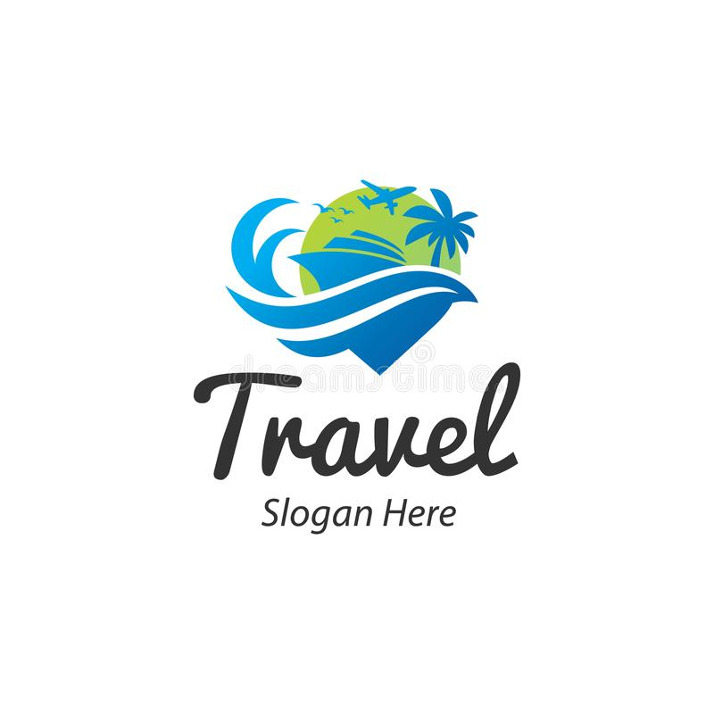 Travelling and tour logo vector inspiration stock photo