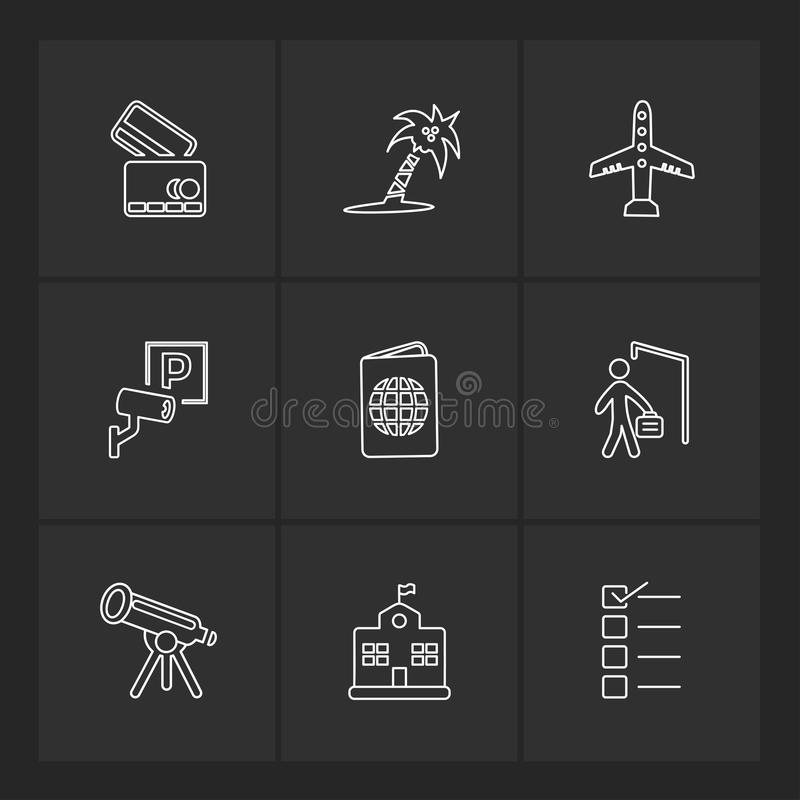 Travelling , travel , location , navigation , shopping , eps icons set vector. Travelling , travel , location , navigation , shopping , map , destination , cart royalty free illustration