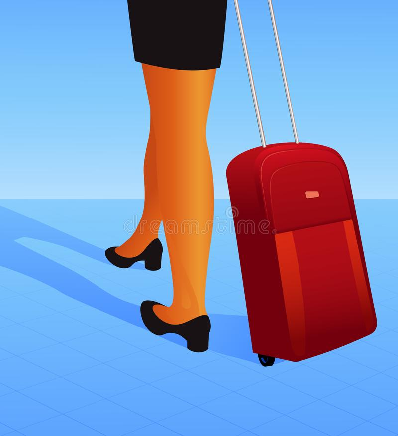 Download Travelling woman stock vector. Illustration of shoes, girl - 9042239