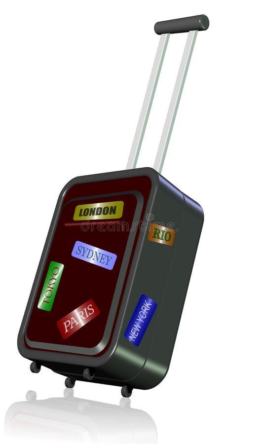 Download Travelling the world stock illustration. Illustration of luggage - 27245086