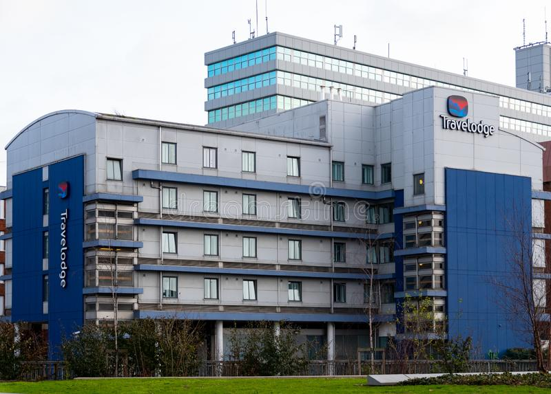 Travelodge Hotel Reading. Reading, United Kingdom - February 09 2019: The Travelodge Hotel in Reading Centre seen from Chatham Place stock image