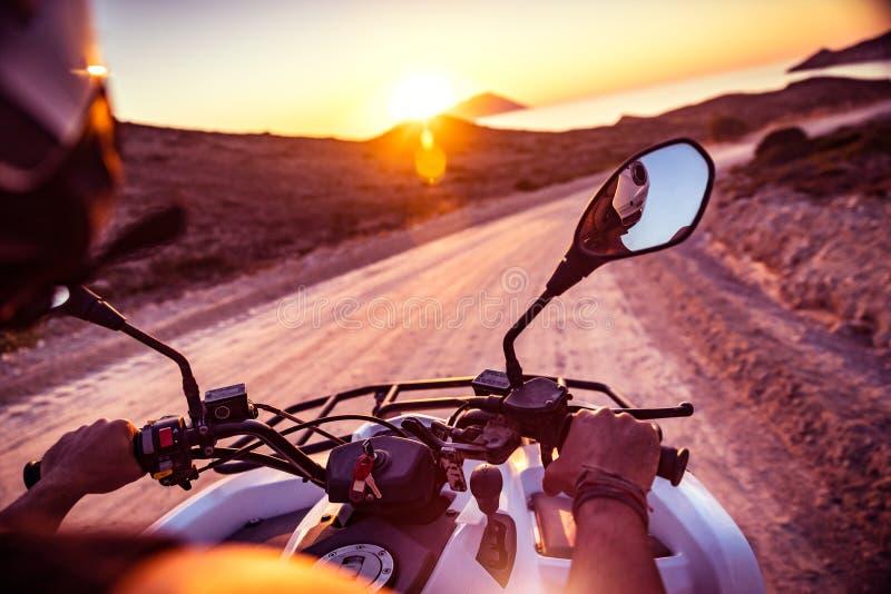 Motorbike travels royalty free stock photography