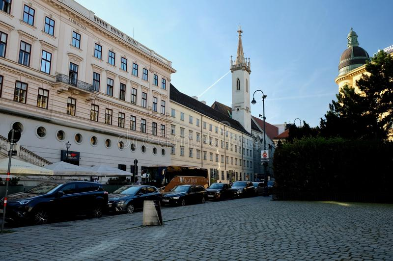 Travels in Europe. Old street Vienna Austria 10.10.2017 stock images
