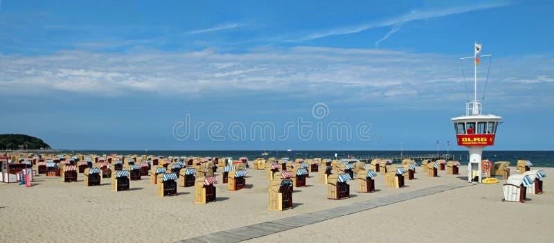 Travemunde plaża obraz stock