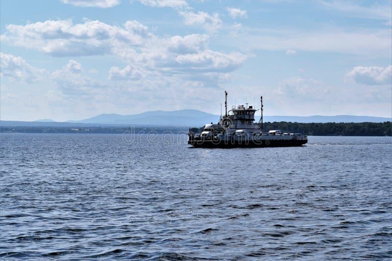 Traversée du lac Champlain, New York, États-Unis. LES Etats-Unis photos stock