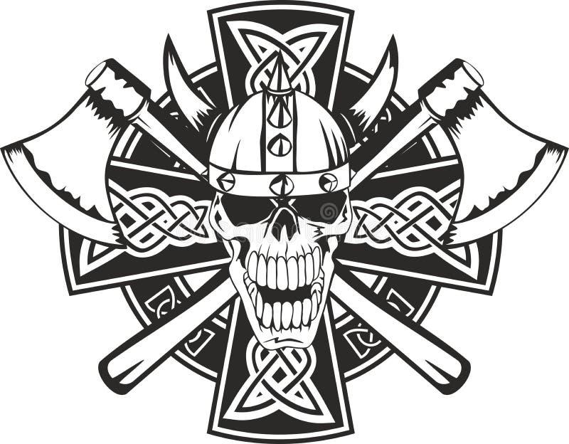 Traversa celtica e cranio royalty illustrazione gratis