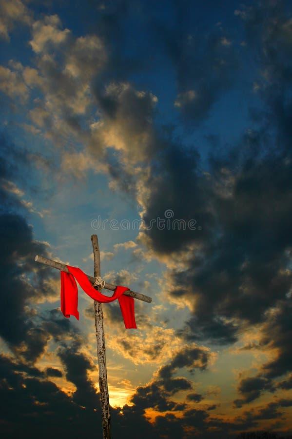 Traversa con il tramonto fotografia stock