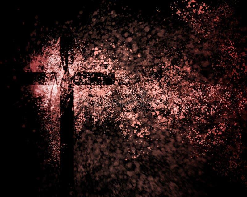Traversa cristiana astratta fotografia stock