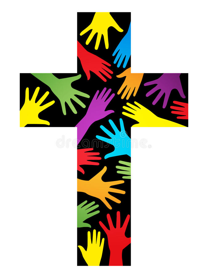 Traversa cristiana di unità illustrazione vettoriale