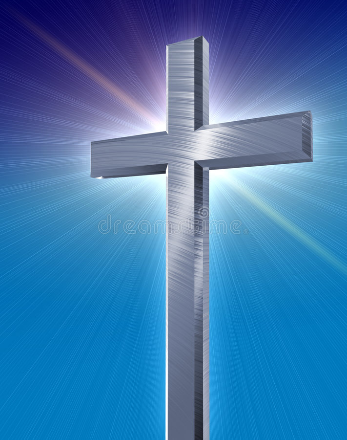 Traversa d'argento cristiana illustrazione di stock