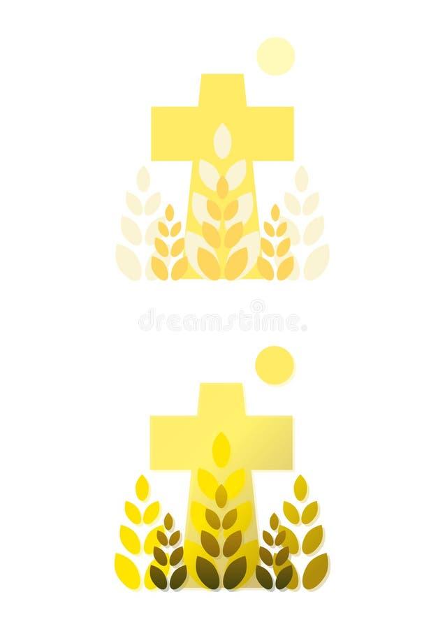 Traversa, granulo e sole illustrazione vettoriale