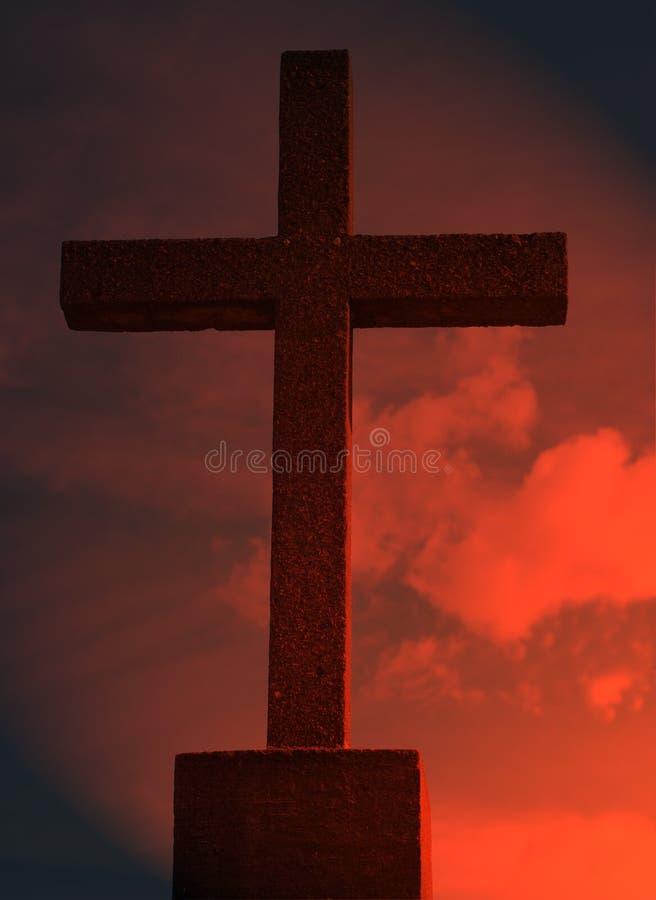 Traversa religiosa fotografie stock