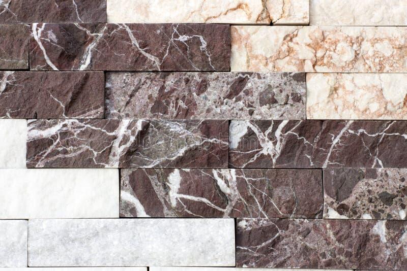 Travertijntegel, de kleur van het baksteenbouwmateriaal stock foto's