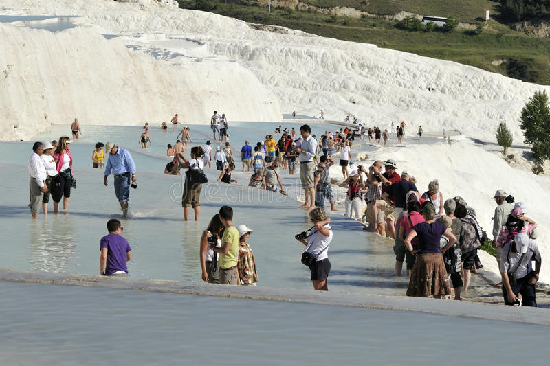 Travertin dans le pamukkale photo stock