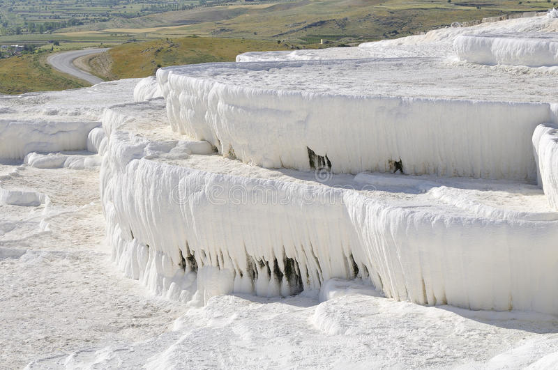 Travertin dans le pamukkale photographie stock