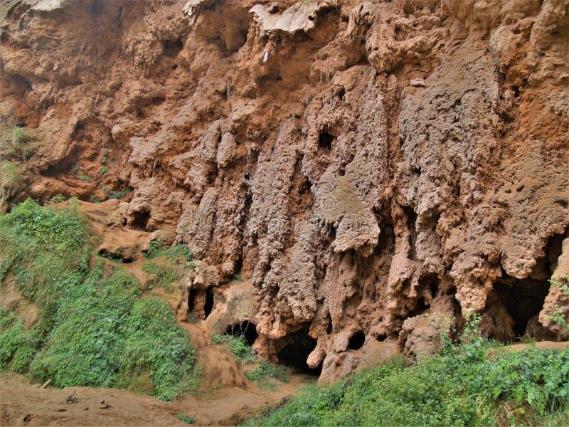 Travertine Cliffs of Havasu Falls royalty free stock image