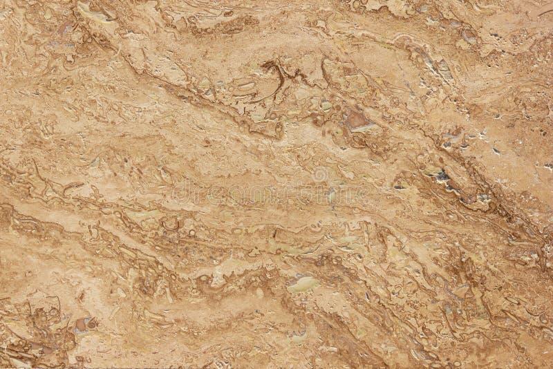 Travertine close up, beige stone texture stock photo