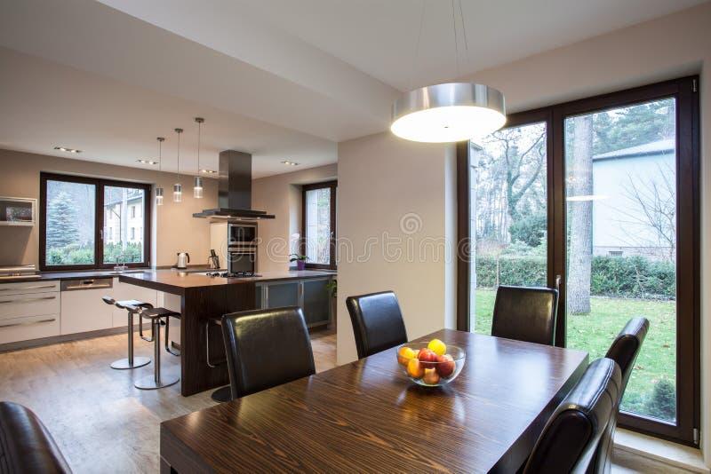 Travertine house - interior royalty free stock photos