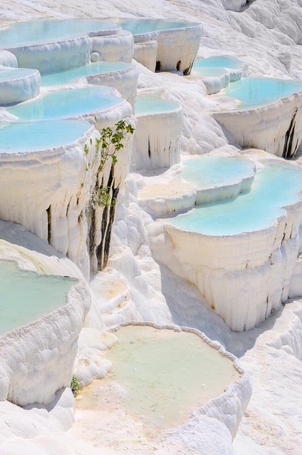 Free Travertine Pools At Ancient Hierapolis, Now Pamukkale, Turkey Stock Image - 37565401