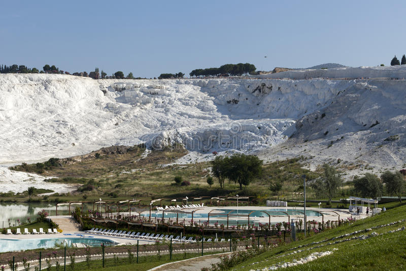Travertine Pools And Terraces In Pamukkale Stock Photo ...