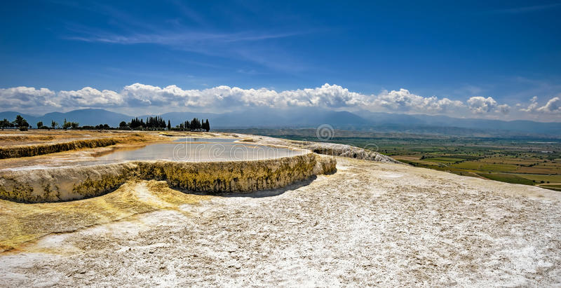 Travertine Pools And Terraces At Pamukkale, Turkey. Stock ...
