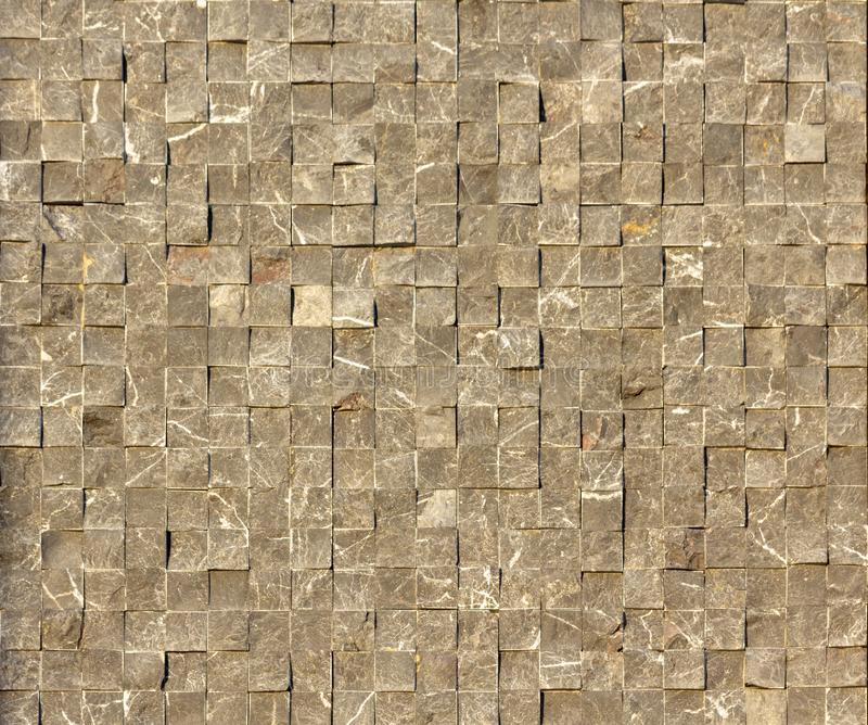 Travertine tile ceramic, mosaic square design seamless texture. Background stock photos