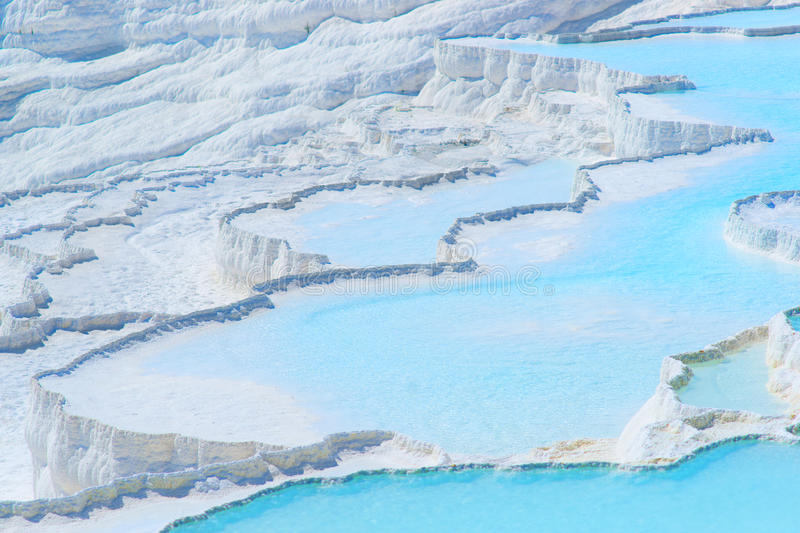 Travertines em Pamukkale, Turquia foto de stock royalty free