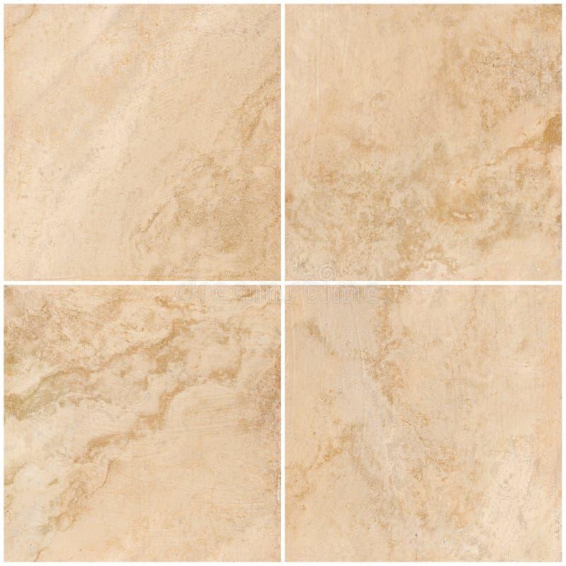 Travertino, textura de mármore, projeto de pedra da telha do fundo fotografia de stock