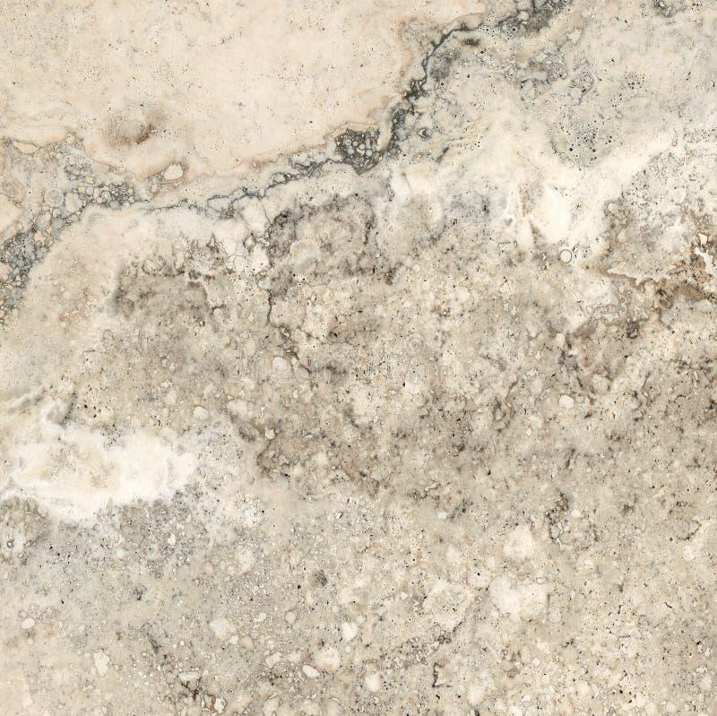 Travertino, textura de mármore, projeto de pedra da telha do fundo foto de stock