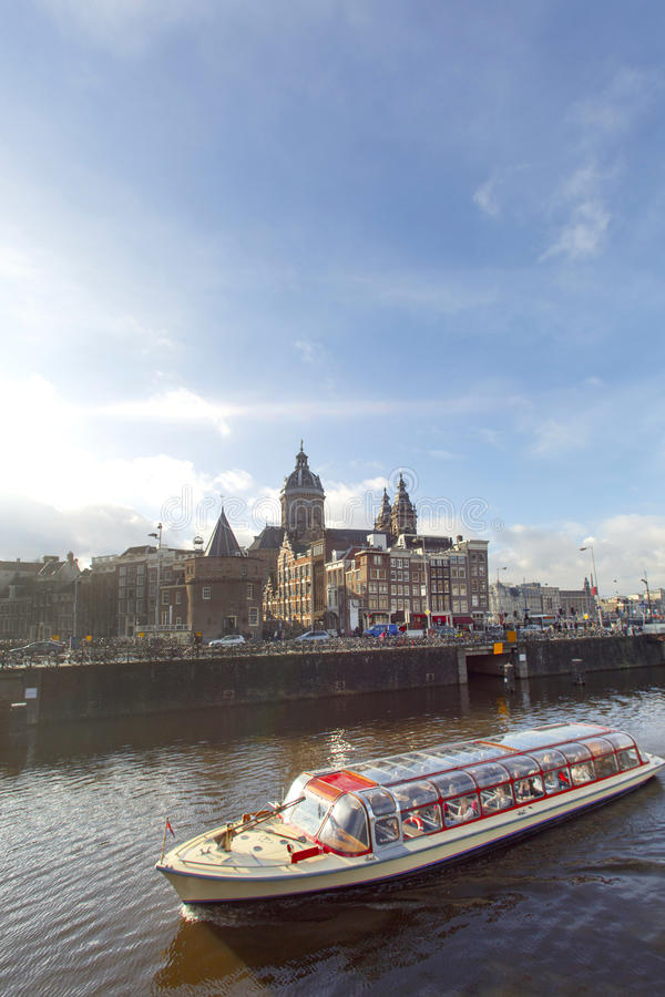 Travesía de Amsterdam imágenes de archivo libres de regalías