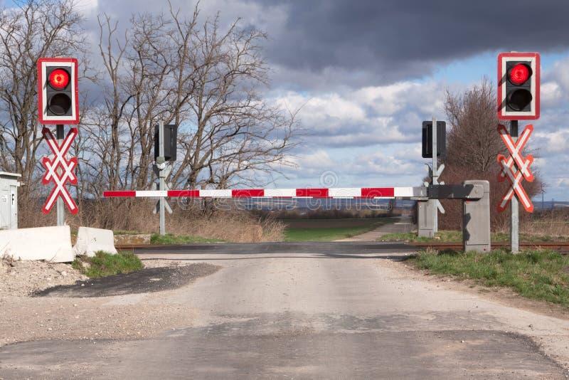 Travesía de ferrocarril imagen de archivo libre de regalías