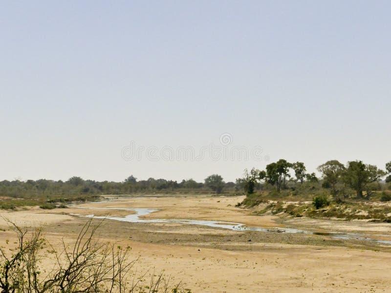 Travesía de río del Limpopo el paisaje del desierto de la nación de Mapungubwe fotos de archivo libres de regalías