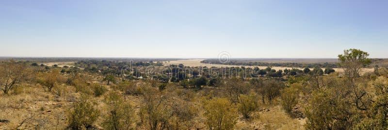 Travesía de río del Limpopo el paisaje del desierto de la nación de Mapungubwe fotos de archivo