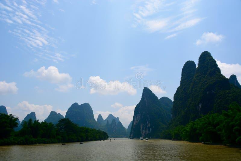 Travesía del río de China Guilin Li fotos de archivo