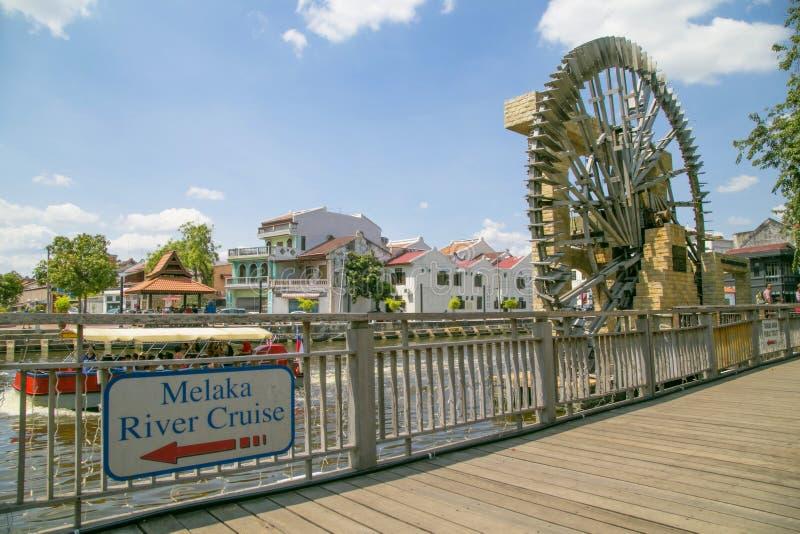 Travesía del río de Melaka fotos de archivo