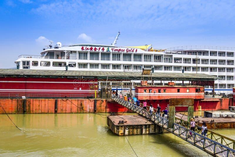 Travesía del río Yangzi imagen de archivo libre de regalías