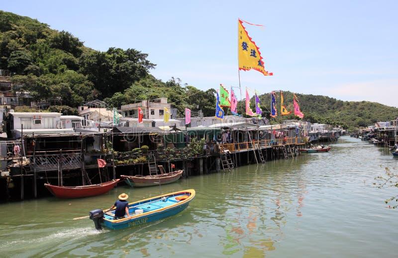 Travesía en Lantau meridional, Hong Kong del canal fotografía de archivo libre de regalías