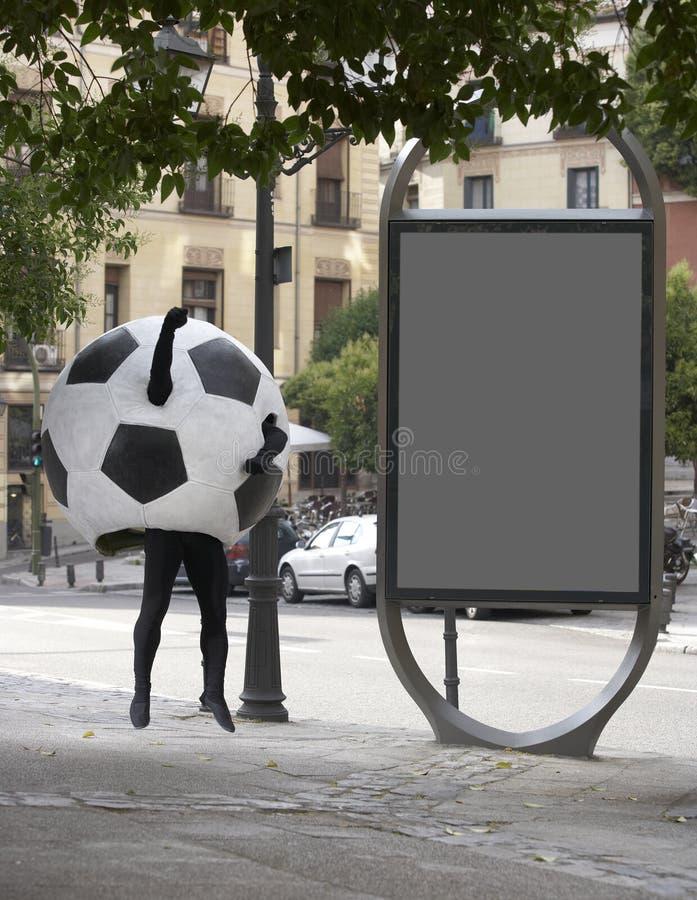 Travestimento del pallone da calcio immagine stock libera da diritti