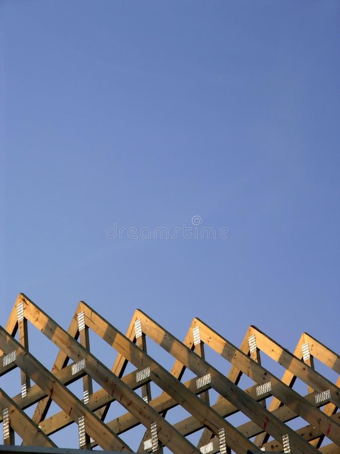 Travi del fascio da nuova costruzione fotografie stock