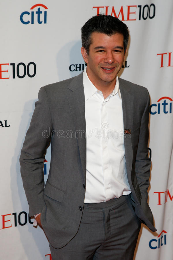 Travis Kalanick. NEW YORK-APR 29: Entrepreneur Travis Kalanick attends the Time 100 Gala celebrating its Time 100 Issue of the Most Influential People in the royalty free stock images