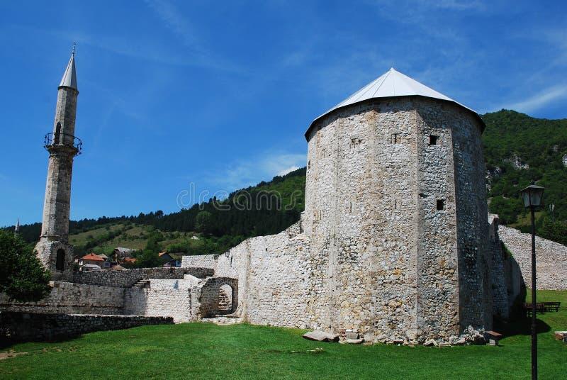 Travnik fästning royaltyfria bilder