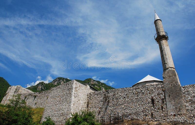 Travnik fästning arkivbilder