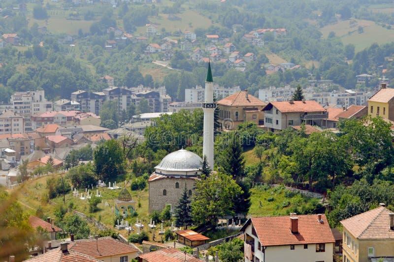 Travnik-gammal stad i Bosnien och Hercegovina royaltyfria bilder
