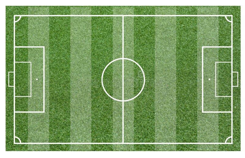 Trawa boisko do piłki nożnej Boiska piłkarskiego lub boisko do piłki nożnej tło ilustracja wektor