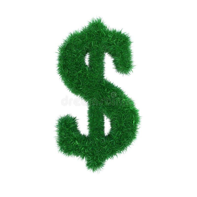 Download Trawa dolarowy znak ilustracji. Ilustracja złożonej z foremność - 13339756