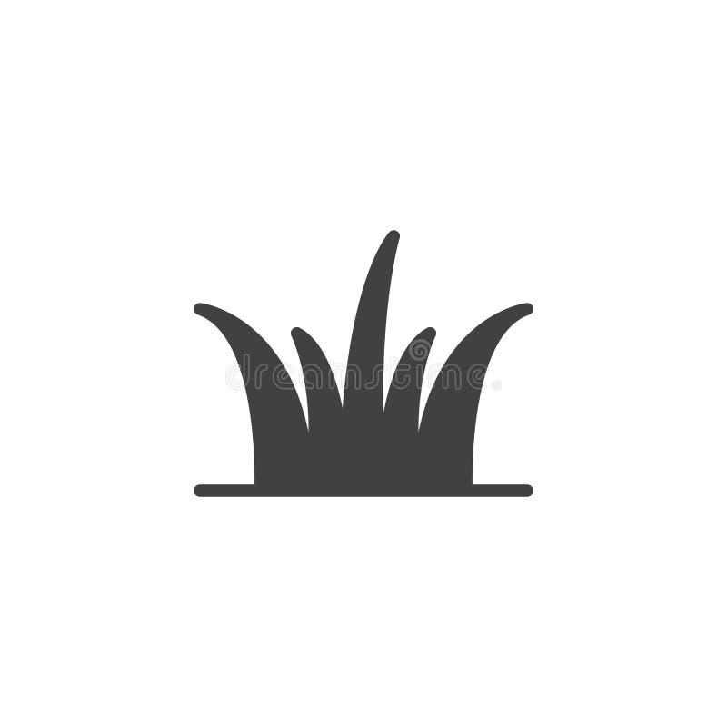 Trawa opuszcza wektorową ikonę ilustracja wektor