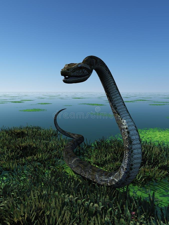 trawa wąż royalty ilustracja